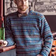 Как связать для мужчин классический мужской пуловер в полоску