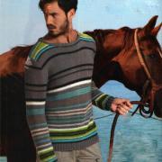 Как связать для мужчин мужской цветной пуловер