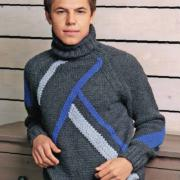Как связать для мужчин мужской классический свитер