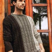Как связать для мужчин мужской пуловер с косами