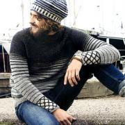 Как связать для мужчин мужской пуловер с полосатым узором
