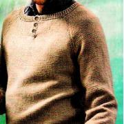 Как связать для мужчин мужской пуловер с пуговками