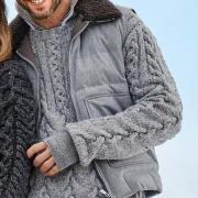 Как связать для мужчин мужской пуловер с узором косы