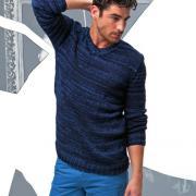 Как связать для мужчин мужской пуловер с v-образным вырезом