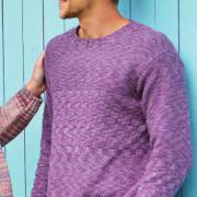 Как связать для мужчин мужской пуловер с жемчужным узором