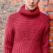 Как связать для мужчин мужской свитер английской резинкой