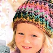 Как связать  цветная шапочка с помпоном для малыша