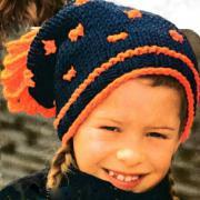 Как связать  детская шапка с контрастными точками