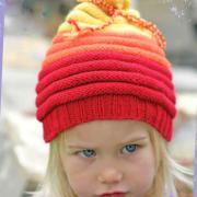 Как связать  детская шапка с закрученными краями
