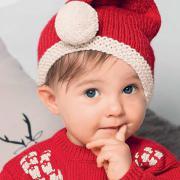 Как связать  детская шапочка-колпак  с помпоном для нового года