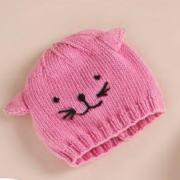 Как связать  детская шапочка с кошачьими ушками