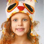 Как связать  детская шапочка - сова