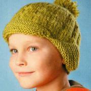 Как связать  детская шапочка с ушами и и помпоном