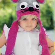 Как связать  детская шапочка с ушками