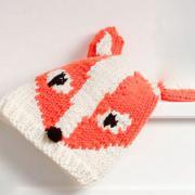Как связать  детская шапочка в виде лисы