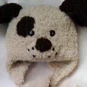Как связать  детская шапочка в виде собачки и шарфик