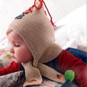 Как связать  детская шапочка с вышитым рисунком
