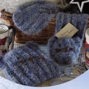 Как связать  детский комплект из шапки и шарфика с кошачьей мордочкой