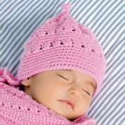 Как связать  конверт для младенца и шапочка