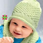 Как связать  шапка для малыша со жгутиком