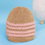 Как связать  шапка простой вязки с полосами