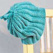 Как связать  шапка с ребристым узором