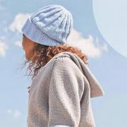 Как связать  шапка резинкой с отворотом