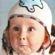 Как связать  шапочка с самолетиком на малыша