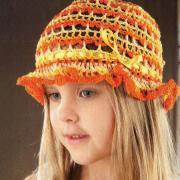 Как связать  шляпка для ребенка в сеточку