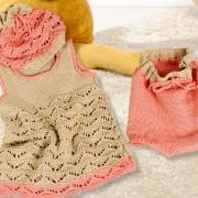 Как связать  ажурное платье, штанишки и шапочка для малышки