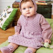 Как связать  ажурный сарафан,кофта, чепчик и пинетки для малышки
