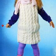 Как связать  детская туника с рельефным узором