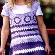 Как связать  детский сарафан на бретелях