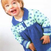 Как связать  красивое платье для девочки с узорами на 1 - 1,5 года