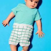 Как связать  клетчатые шорты для мальчика