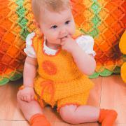 Как связать  комбинезон для малышей без рукавов