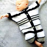 Как связать  полосатое боди для малыша