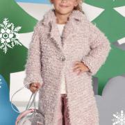 Как связать  детское пальто с отложным воротничком