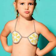 Как связать крючком раздельный купальник на завязках для ребенка