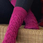 Как связать крючком удлиненные носки с косами
