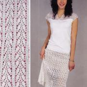 Как связать крючком белая ажурная юбка