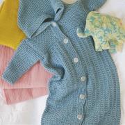 Как связать  спальный мешок для малыша