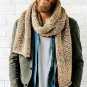Как связать  мужской простой шарф