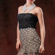 Как связать спицами коктейльное платье без бретелей