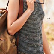 Как связать спицами короткое платье с ажурной юбкой