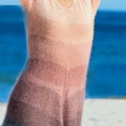 Как связать спицами полосатая туника из мохера