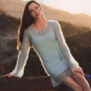 Как связать спицами полупрозрачное ажурное платье