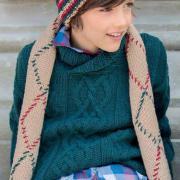 Как связать  цветной шарф с ромбами