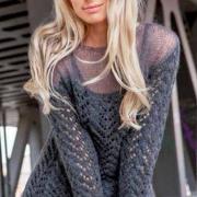 Как связать спицами ажурный пуловер с полупрозрачными плечами