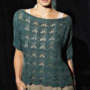 Как связать спицами ажурный пуловер с волнистым узором